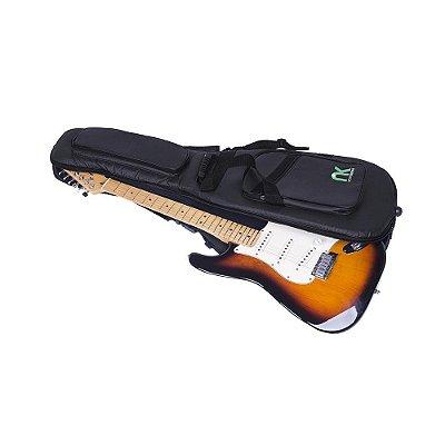 Capa Bag para Guitarra Couro Reconstituído Preto