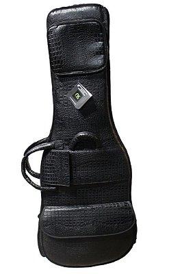 Capa Bag para Baixo Couro Reconstituído Preto Tamponado Amazon Croco