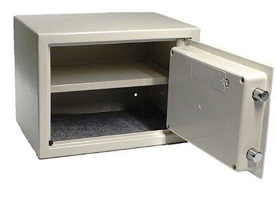 Cofre Eletrônico Digital e Manual Com Chave Modelo Prateleira 25x35x25cm