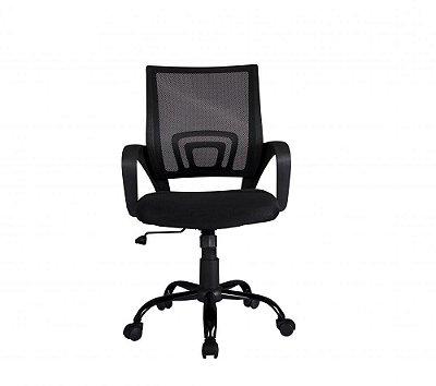 Cadeira de Escritorio Giratoria com Base Preta - Marca Akordar