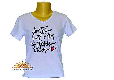 Camiseta Babylook Juntos até o fim