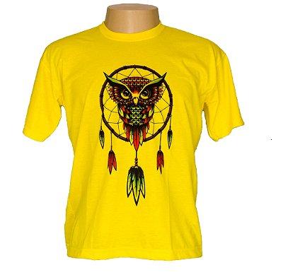 Camiseta masculina coruja filtro dos sonhos