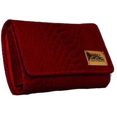 Bolsa porta celular em couro legitimo na cor vermelho