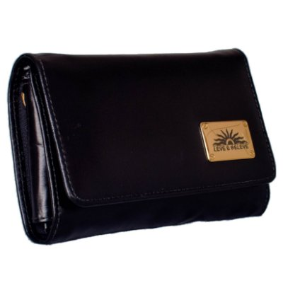 Bolsa porta celular em couro legitimo na cor preto