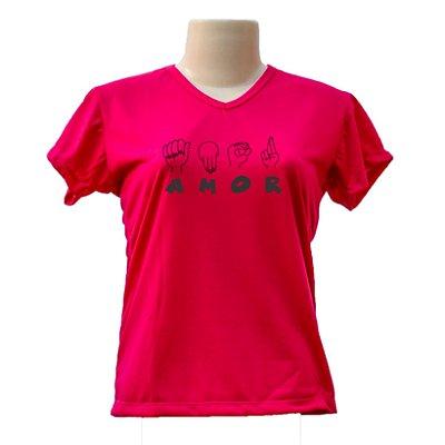 Camiseta baby look Amor a Libras