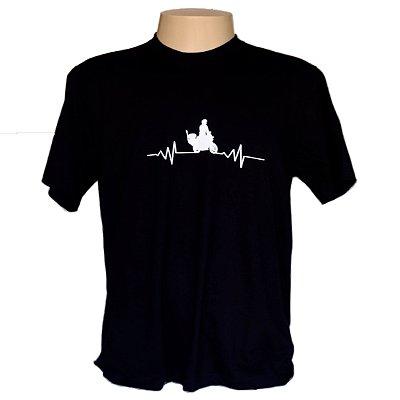 Camiseta masculina em algodão Motorcycle