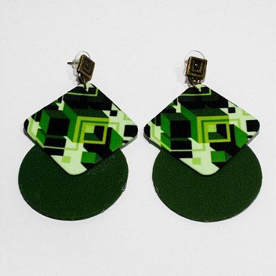 Brincos Quemé verde