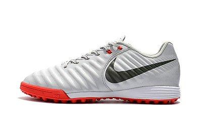 3966fe9e37131 Nike Tiempo Ligera Society - cinza vermelho