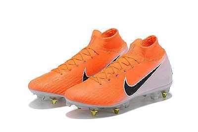 34c3afa5d3a11 Nike mercurial superfly laranja/branco - Trava mista