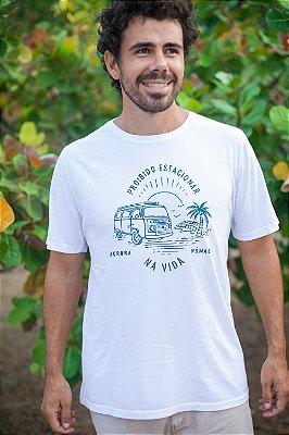 Camiseta Proibido Estacionar na Vida Branca