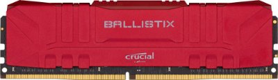 MEMORIA BALLISTIX 16GB VERMELHA 3200 MHZ, BL16G32C16U4R