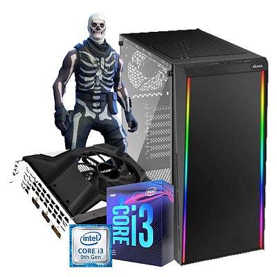 COMPUTADOR GAMER SKULL, I3-9100F, GEFORCE GTX 1650 4GB, 8GB DDR4, SSD 240GB, 500W