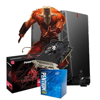 COMPUTADOR GAMER MOBA BOX, INTEL G5400, RADEON RX 550 4GB, 8GB DDR4, SSD 240GB, 500W