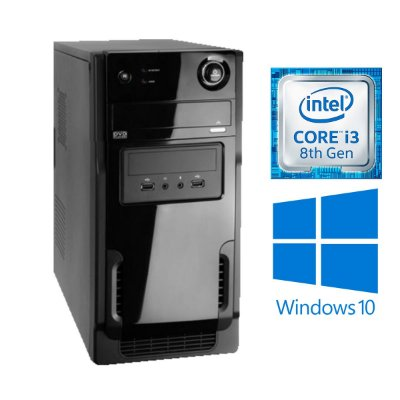 COMPUTADOR HOME OFFICE, INTEL CORE I3 8100, 8GB 2400MHZ DDR4, SSD 240GB, 230W REAL