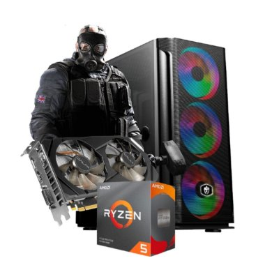 COMPUTADOR GAMER STRAFE, RYZEN 5 3600X, GEFORCE GTX 1660 6GB, 16GB DDR4, SSD 120GB, HD 1TB, 500W 80 PLUS
