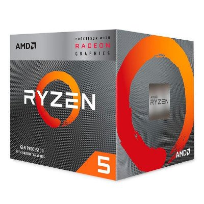 PROCESSADOR AMD RYZEN 5 3400G QUAD-CORE 3.7GHZ (4.2GHZ TURBO) 6MB CACHE AM4, YD3400C5FHBOX