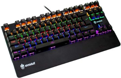 TECLADO GAMER MECÂNICO EVOLUT EG204RB ASSAULT LED SWITCH BLUE