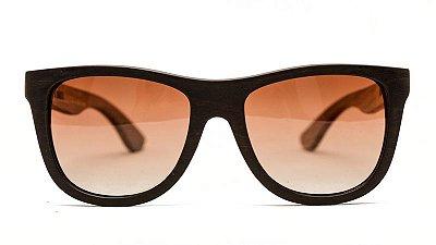 Óculos de Madeira - BIGWOOD BLACK EDITION // EBANO + ZEBRA