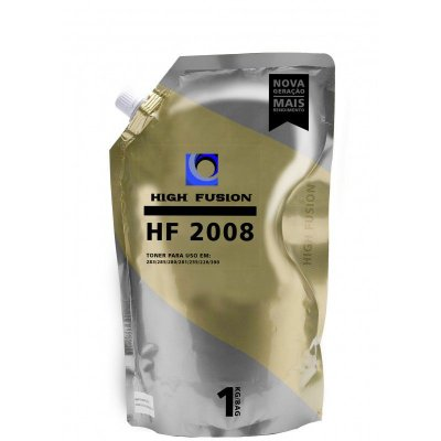 REFIL PÓ DE TONER PARA HP HIGH FUSION HF2008 UNIVERSAL DE ALTA E BAIXA | PRETO | 1KG