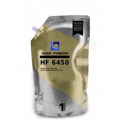 REFIL PÓ DE TONER PARA BROTHER HIGH FUSION HF 6450 UNIVERSAL | PRETO | 1KG
