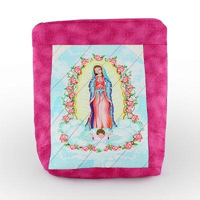 Case/Bolsa Nossa Senhora de Guadalupe rosa