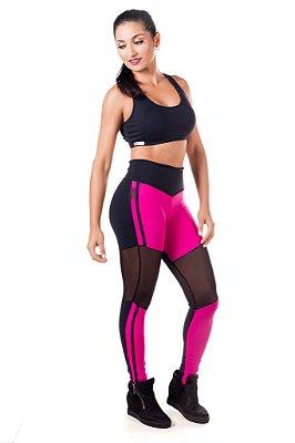 Legging Deluxe preto/rosa