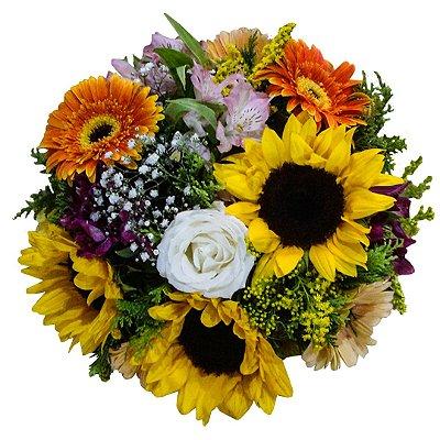 Buquê com Mix de Flores Boas Energias