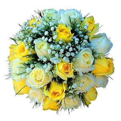 Rosas Amarelas e Brancas (noiva)