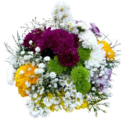 Mini Buquê com flores do Campo (Pequeno)