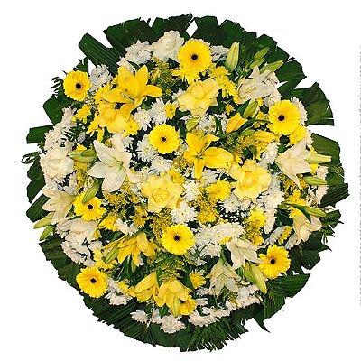 Coroa de Flores para Velório com Flores Nobres.