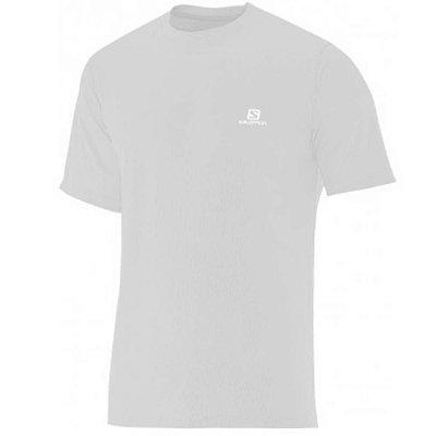 Camiseta Manga Curta Masculina Salomon Sonic UV50 Cinza