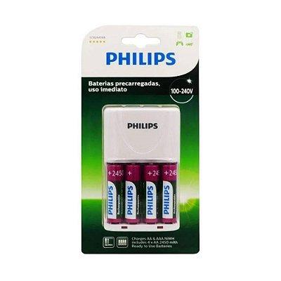 Kit Carregador de Pilhas Philips SCB2445NB