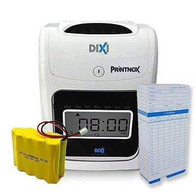 Relógio de Ponto Cartográfico Printnox + Bateria + 100 cartões