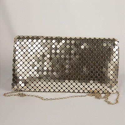 Bolsa de Festa Clutch Luxo Parfois Dourada