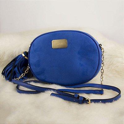 Bolsa Pequena Parfois de Camurça Ecológica Azul