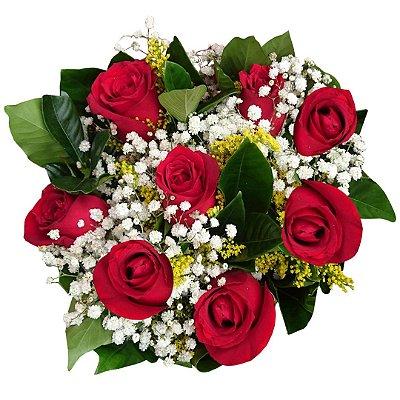 Buquê com 8 Rosas Nacionais