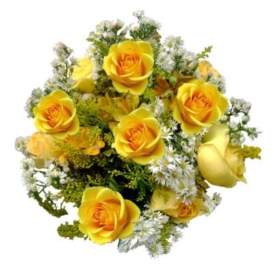 Buquê com Rosas Amarelas (12 Rosas)