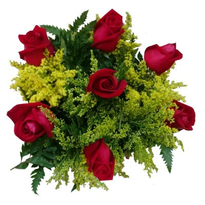 Buquê com 07 Rosas Nacionais