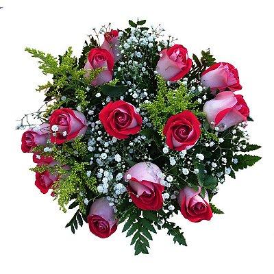 Buquê com 12 Rosas Vermelhas Nacionais Nathaly