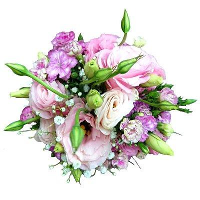 Mini Buquê com Rosas e Folhagem Especial