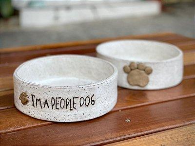 COMEDOUROS BRANCOS I´M A PEOPLE DOG