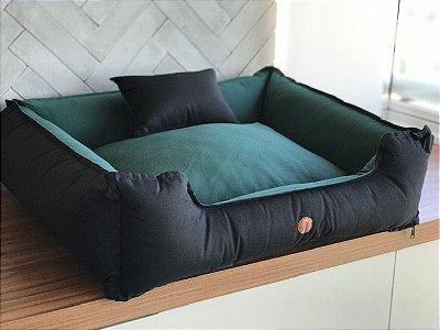 Cama para Cachorro Verde&Preto