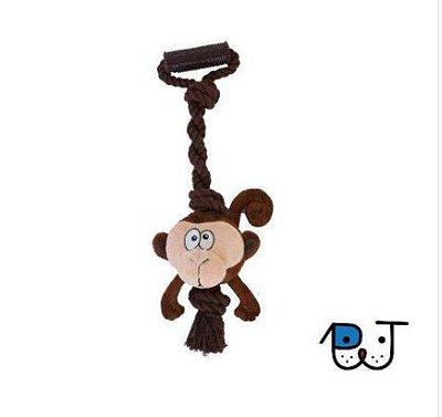 Brinquedo para Cães Tuggerz Macaco de Pelúcia com Corda