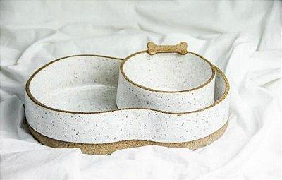 Conjunto em Cerâmica Anti-formiga para Cachorro
