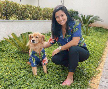 Camisa Estampada para Humanos - Juquehy