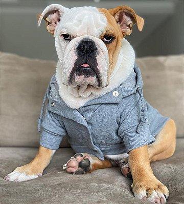 Moletom para Cachorro Cinza Mescla