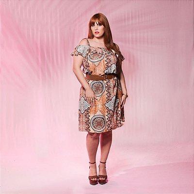 Vestido Gypsy com Babado - Plus Size