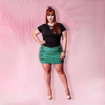 Shorts Saia Jacquard com bordado
