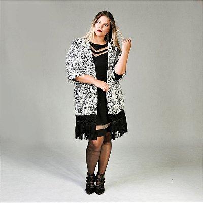 Kimono Viscose com Franja Plus Size