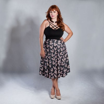 Saia Midi Fun - Plus Size